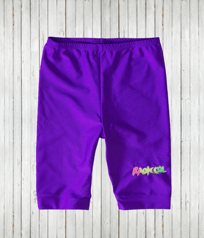 Kids Rash Guard Shorts Purple Radicool FRONT radicool uv beachwear