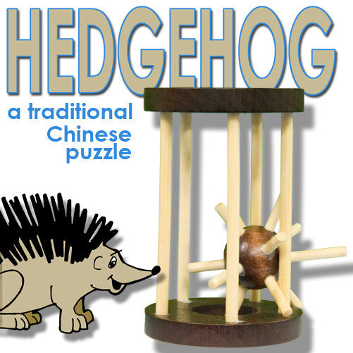 Hedgehog in a Cage - Wood