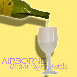 Airborne Champagne Bottle