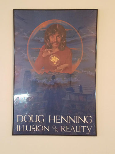 Doug Henning - Illusion or Reality Poster Original - Framed