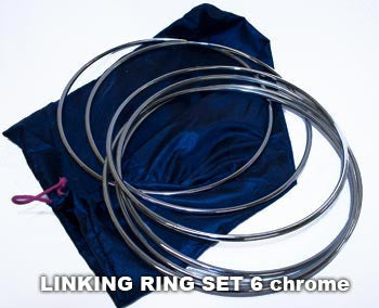 Linking Rings 6 Set, Chrome - 8 inch