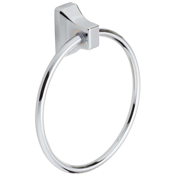 Image Of Towel Ring -  Sea Breeze Bathroom Hardware Set  - Chrome Finish - Harney Hardware