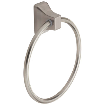 Image Of Towel Ring -  Sea Breeze Bathroom Hardware Collection  - Satin Nickel Finish - Harney Hardware