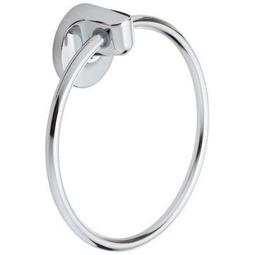Image Of Towel Ring -  Harbor Isle Bathroom Hardware Set  - Chrome Finish - Harney Hardware