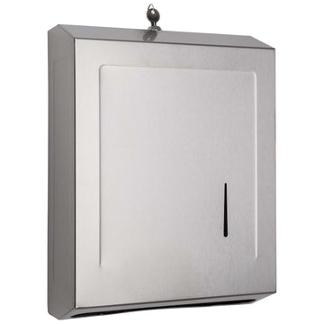 Image Of Paper Towel Dispenser -  535 Towels - Satin Stainless Steel Finish - Harney Hardware