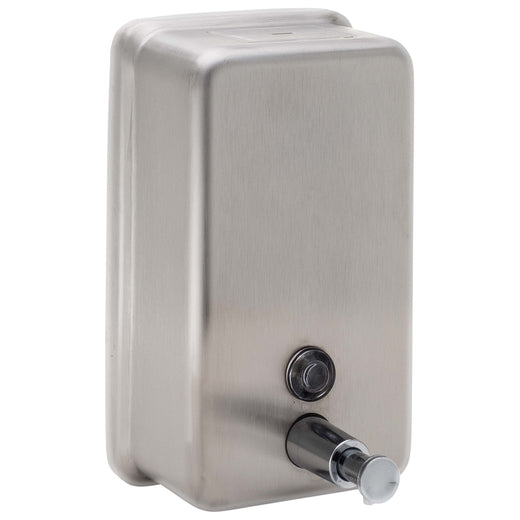 Image Of Commercial Liquid Soap Dispenser -  Vertical -  ADA Compliant -  40 Oz. - Satin Stainless Steel Finish - Harney Hardware