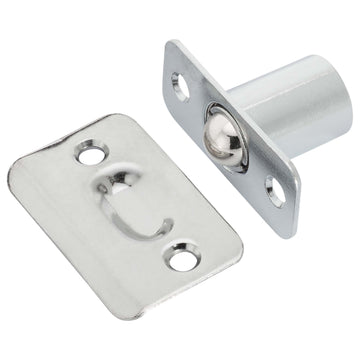 Image Of Cabinet Ball Catch -  Mortise - Chrome Finish - Harney Hardware