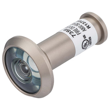 Image Of Door Peephole Viewer -  UL Fire Rated -  1/2 In. Bore 180 Degree Viewer - Satin Nickel Finish - Harney Hardware