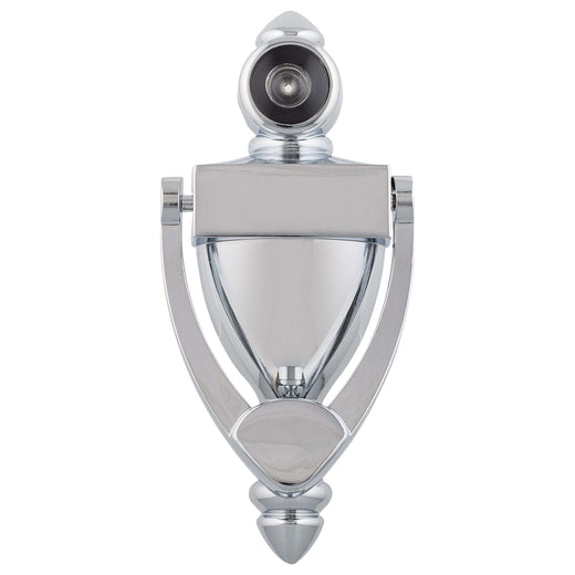Image Of Door Knocker Viewer -  5 1/4 In. With 1/2 In. Bore 180 Degree Viewer - Chrome Finish - Harney Hardware