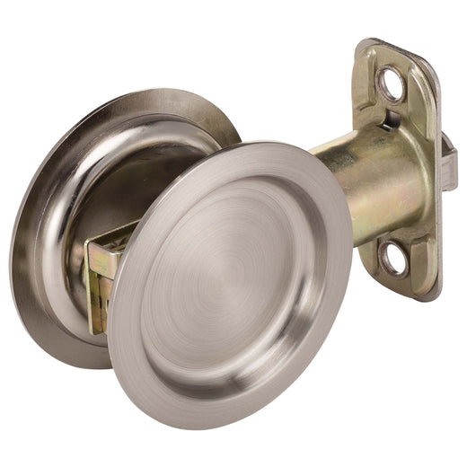 Round Pocket Door Hardware round pocket door lock - satin nickel - harney hardware