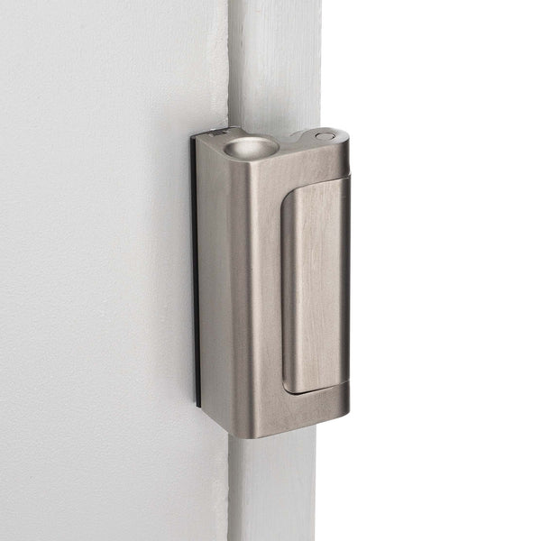 Security Door Guard - Satin Nickel - Harney Hardware