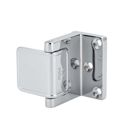 Image Of Security Door Guard -  Commercial - Chrome Finish - Harney Hardware