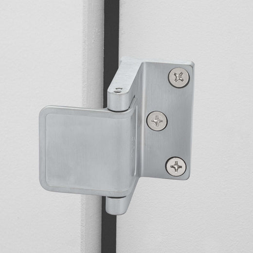 Image Of Security Door Guard -  Commercial - Satin Chrome Finish - Harney Hardware