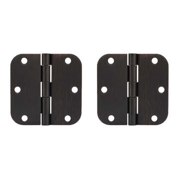Image Of Door Hinges -  Plain Bearing -  3 1/2 In. X 3 1/2 In. X 5/8 In. Radius -  2 Pack - Venetian Bronze Finish - Harney Hardware