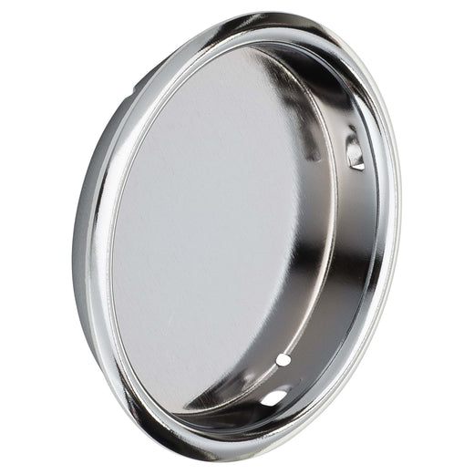 Image Of Round Flush Pull -  2 1/8 In. Diameter - Chrome Finish - Harney Hardware