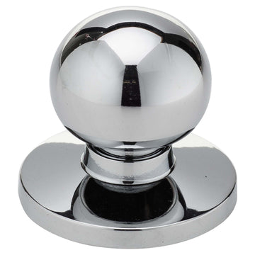 Image Of Cabinet Knob -  Spherical -  1 11/16 In. Diameter - Chrome Finish - Harney Hardware