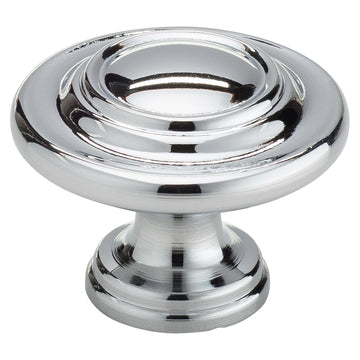 Image Of Cabinet Knob -  1 1/8 In. Diameter - Chrome Finish - Harney Hardware