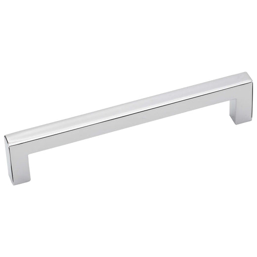 Image Of Cabinet Handle Pull -  Square -  5 In. Center To Center - Chrome Finish - Harney Hardware
