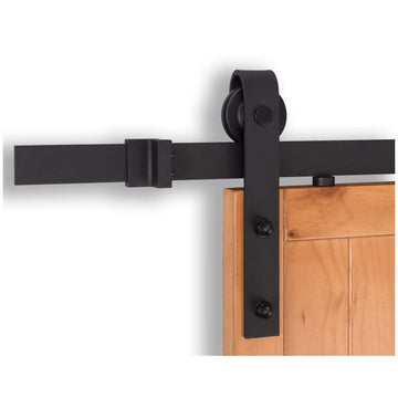 Image Of Barn Door Hardware -  Standard Kit - Matte Black Finish - Harney Hardware