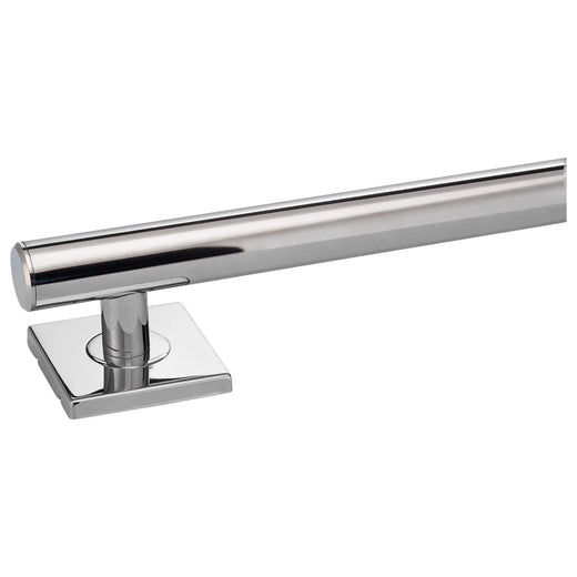 Image Of Bathroom Grab Bar -  Contemporary -  Square Escutcheon -  48 In. X 1 1/4 In. - Polished Stainless Steel Finish - Harney Hardware