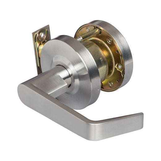 Image Of Vigilant Commercial Door Lever Set -  Exit / Connecting Room Function -  UL Fire Rated -  ANSI 2 - Satin Chrome Finish - Harney Hardware