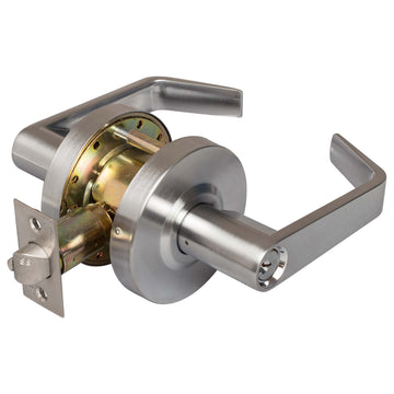 Image Of Vigilant Commercial Door Lever Set -  Entry / Keyed Function -  UL Fire Rated -  ANSI 2 - Satin Chrome Finish - Harney Hardware