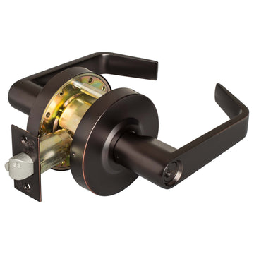 Image Of Vigilant Commercial Door Lock -  Entry / Keyed Function - Oil Rubbed Bronze Finish - Harney Hardware
