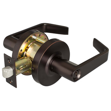 Image Of Vigilant Commercial Door Lock -  Privacy / Bathroom Function - Oil Rubbed Bronze Finish - Harney Hardware