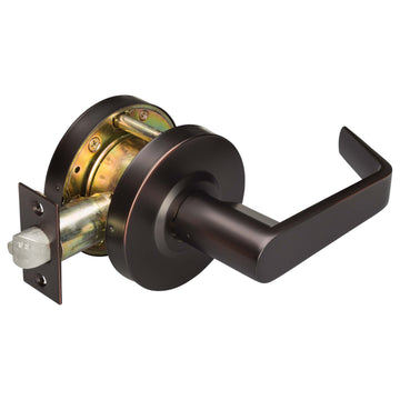 Image Of Vigilant Commercial Door Lever Set -  Exit / Connecting Room Function -  UL Fire Rated -  ANSI 2 - Oil Rubbed Bronze Finish - Harney Hardware