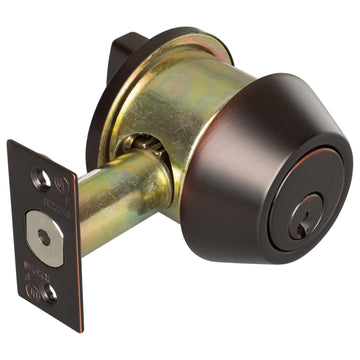 Image Of Vigilant Commercial Deadbolt -  Single Cylinder -  UL Fire Rated -  ANSI 2 - Oil Rubbed Bronze Finish - Harney Hardware