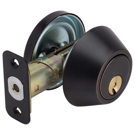 Image Of Atlas Light Duty Commercial Deadbolt -  Single Cylinder -  UL Fire Rated -  ANSI 2 - Venetian Bronze Finish - Harney Hardware