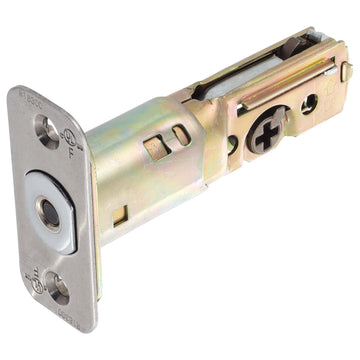 Image Of Residential Deadbolt Latch -  UL Fire Rated -  Adjustable 2 3/8 In. To 2 3/4 In. - Satin Stainless Steel Finish - Harney Hardware