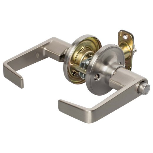 Image Of Largo Keyed / Entry Door Lever Set - Satin Nickel Finish - Harney Hardware