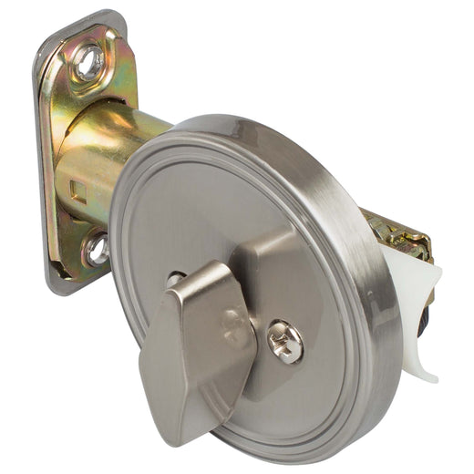 Image Of Single Sided Keyless Deadbolt - Satin Nickel Finish - Harney Hardware