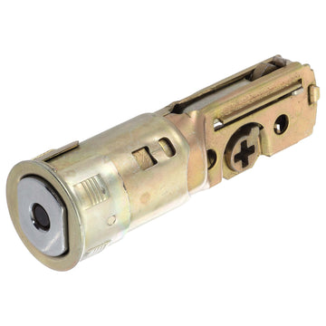 Image Of Residential Drive In Deadbolt Latch -  Adjustable 2 3/8 In. To 2 3/4 In. - Satin Stainless Steel Finish - Harney Hardware