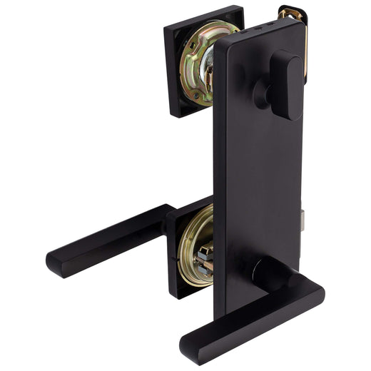 Image Of Harper Interconnected Lock -  Reversible Passage Lever -  UL Fire Rated -  ANSI 2 - Matte Black Finish - Harney Hardware