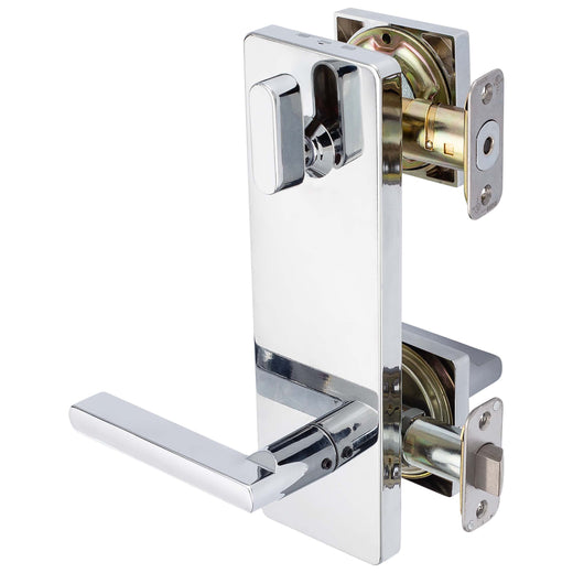 Image Of Harper Interconnected Lock -  Reversible Passage Lever -  UL Fire Rated -  ANSI 2 - Chrome Finish - Harney Hardware