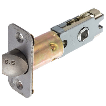 Image Of Residential Cont Privacy / Passage Latch -  UL Fire Rated -  Adjustable 2 3/8 In. To 2 3/4 In. - Satin Stainless Steel Finish - Harney Hardware
