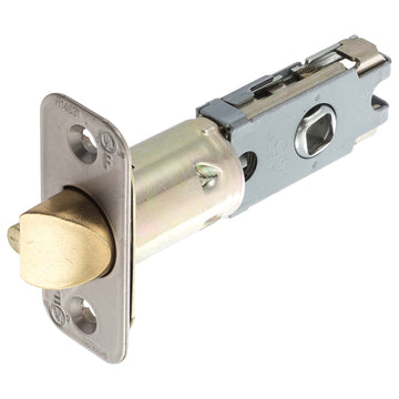 Image Of Residential Cont UL Keyed / Entry Latch -  Adjustable 2 3/8 In. To 2 3/4 In. - Satin Stainless Steel Finish - Harney Hardware