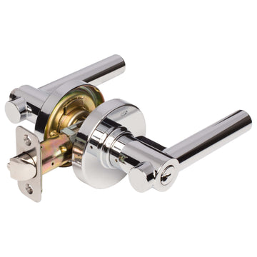Image Of Riley Keyed / Entry Contemporary Door Lever Set   Harney Hardware