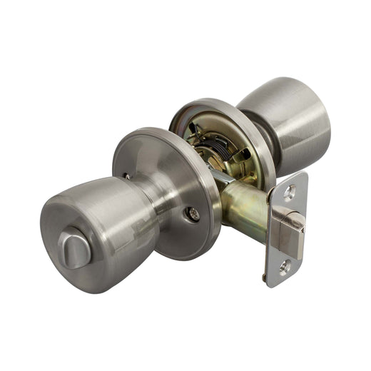 Image Of Emerson Bed / Bath / Privacy Door Knob Set - Satin Nickel Finish - Harney Hardware