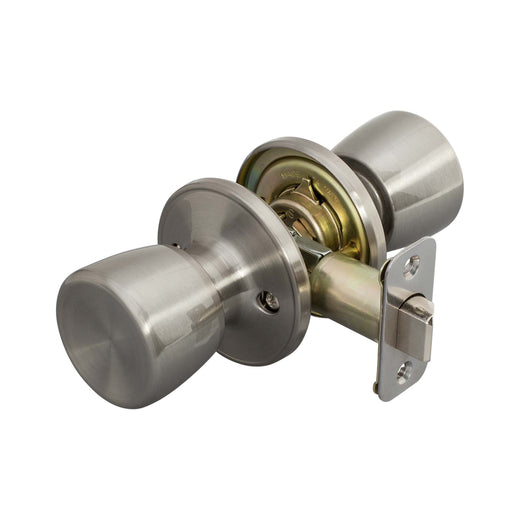 Image Of Emerson Closet / Hall / Passage Door Knob Set - Satin Nickel Finish - Harney Hardware