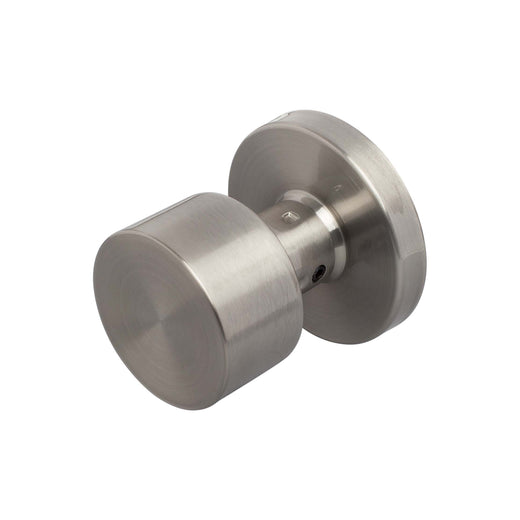 Image Of Brooklyn Inactive / Dummy Contemporary Door Knob - Satin Nickel Finish - Harney Hardware