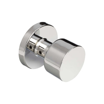 Image Of Brooklyn Inactive / Dummy Contemporary Door Knob - Chrome Finish - Harney Hardware