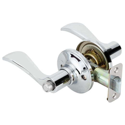 Image Of Dakota Bed / Bath / Privacy Door Lever Set - Chrome Finish - Harney Hardware