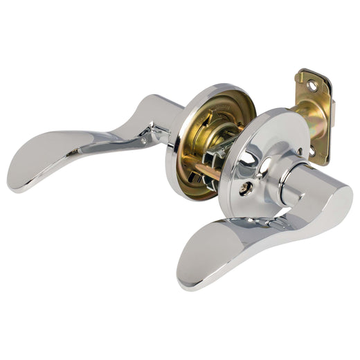Image Of Dakota Closet / Hall / Passage Door Lever Set - Chrome Finish - Harney Hardware