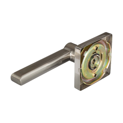 Image Of Harper Inactive / Dummy Contemporary Door Lever - Satin Nickel Finish - Harney Hardware