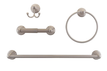 Image Of Austin Satin Nickel Bathroom Hardware Set - Satin Nickel Finish - Harney Hardware