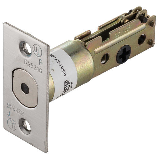 Image Of Commercial Deadbolt Latch -  UL Fire Rated -  2 3/8 In. Backset - Satin Stainless Steel Finish - Harney Hardware