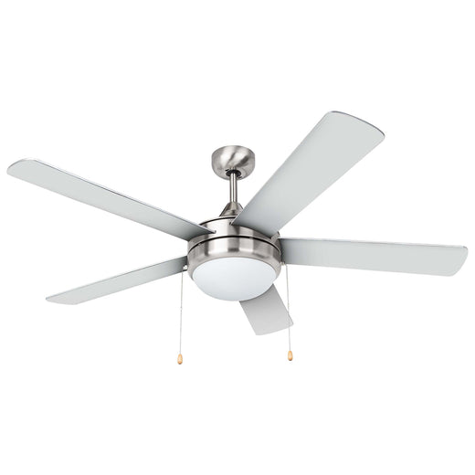 Contemporary Modern Ceiling Fan With Led Light Kit Satin Nickel Harney Hardware